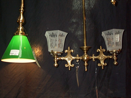 new victorian 2 arm pendant light