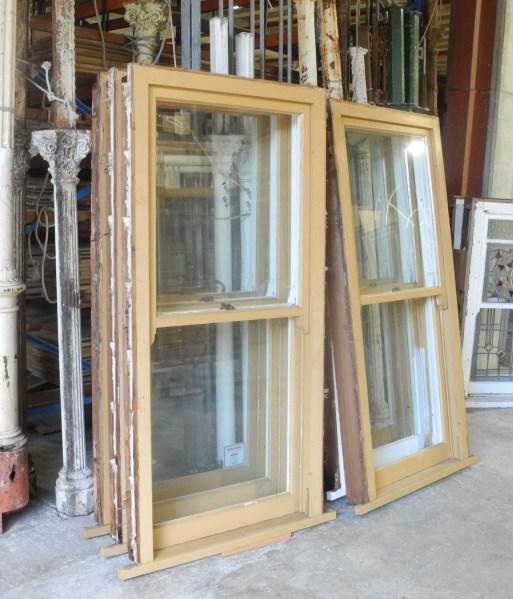 set of 6 original second hand double hung windows