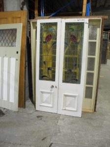 pair original second hand french doors
