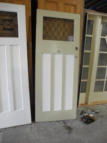original second hand faux lead light edwardian front door