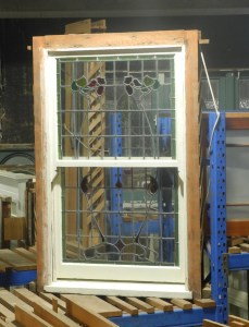 original double double hung lead light window