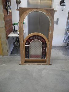 original victorian arched double hung window