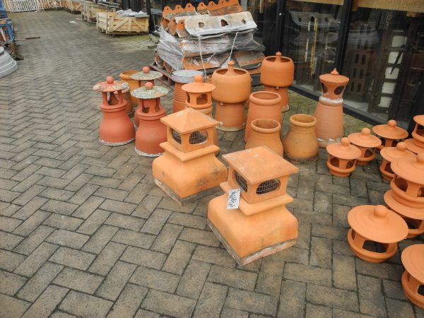 Square Hooded Chimney Pots