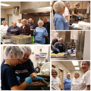 Chippewa County Democratic Party members volunteering at a local soup kitchen