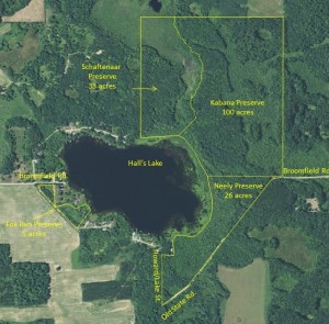 Hall's Lake Natural Area Aerial Map