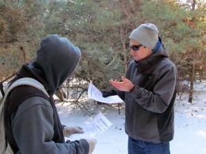 Jon promotes the conifer identification key sheet