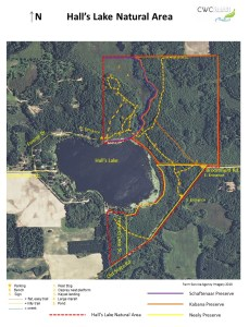2015 Halls Lake Natural Area Trails Map