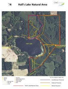 2015 Halls Lake Natural Area Trails Map