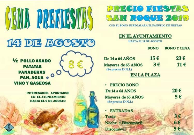 PRECIOS FIESTAS 2019 PRUEBA