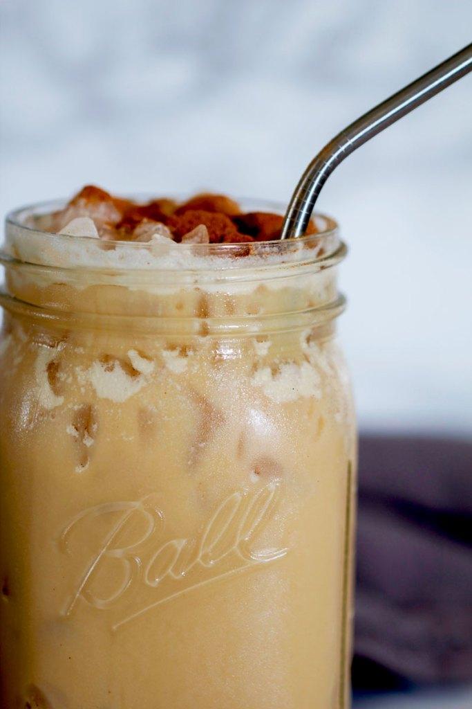 Dirty Iced Chai Latte