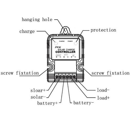 Auto 6V 12V 10A Solar Panel Battery Regulator Charge