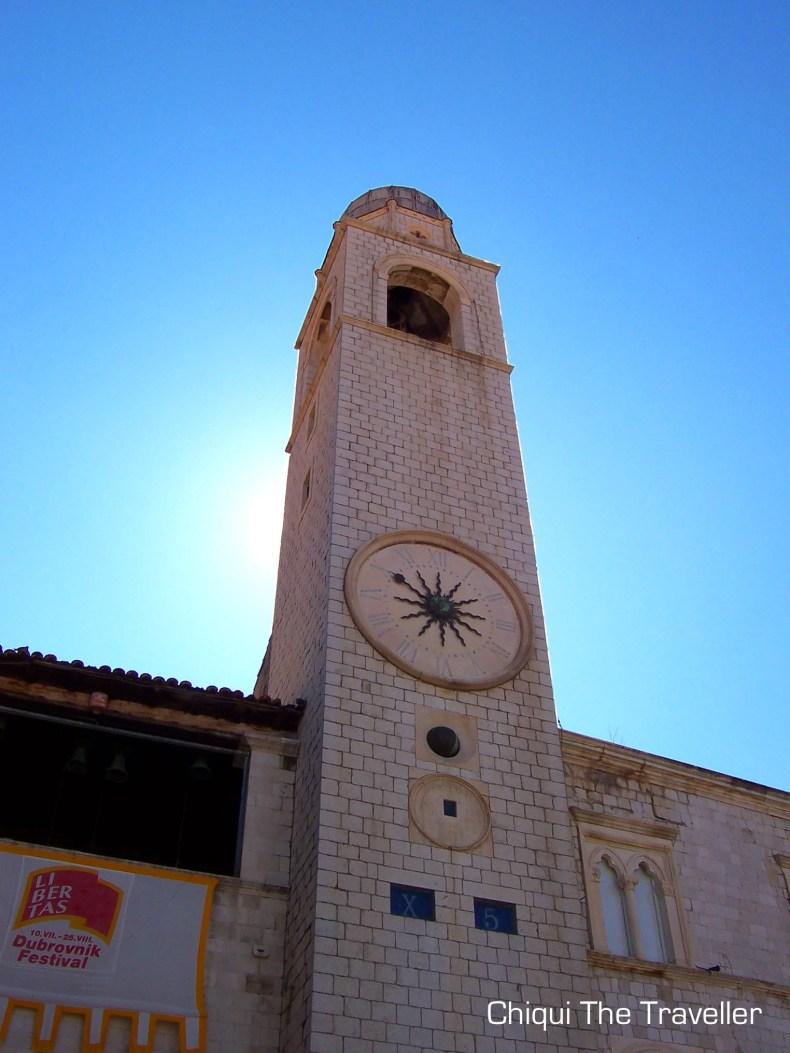 Palacio Sponza reloj Dubrovnik