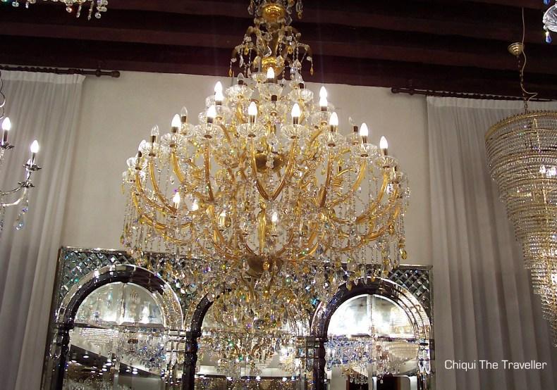 lampara cristal Murano Venecia