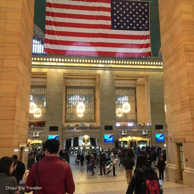Estacion central Nueva York Bandera Estados Unidos Grand Central Terminal