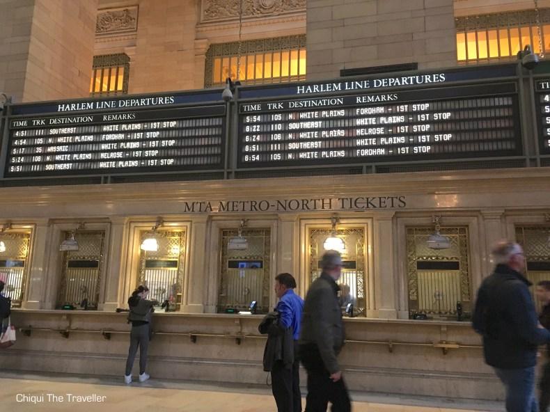 Grand Central Terminal Harlem Line Taquillas Ticket windows