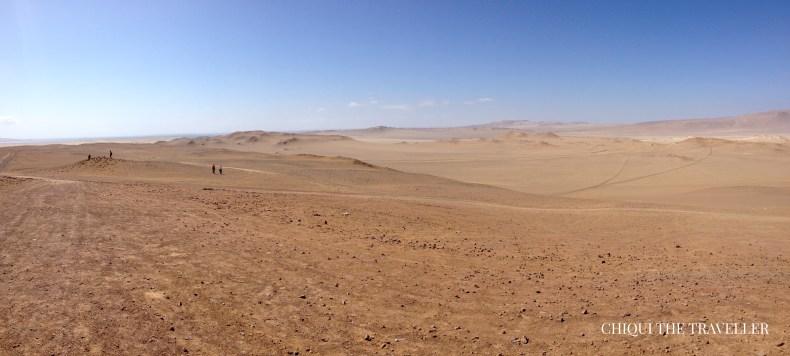 Panorámica Paracas desierto