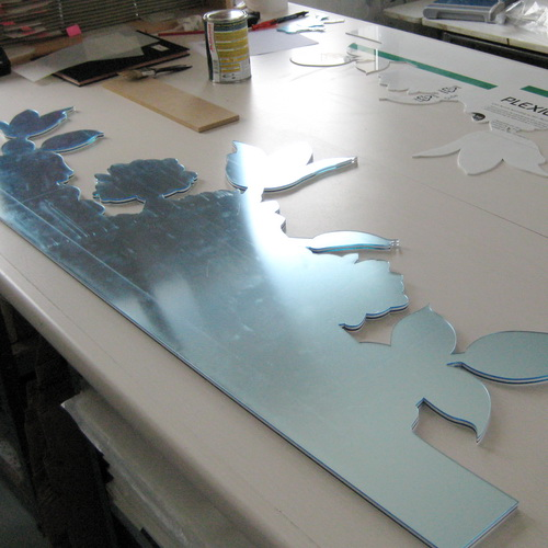 plexiglas miroir decoupe laser