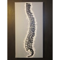 Single Canvas Spine Painting: Single Color Background ...