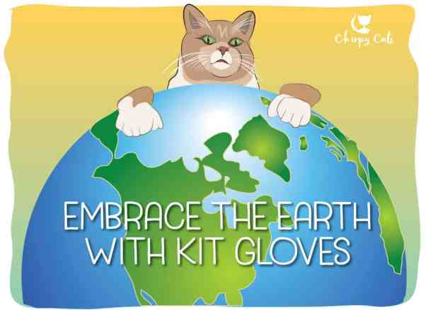 Earth day fragile planet cat cartoon