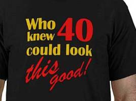 40th Birthday Funny Gift Ideas