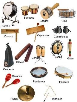 Los instrumentos de percusin  elenamedinamusic