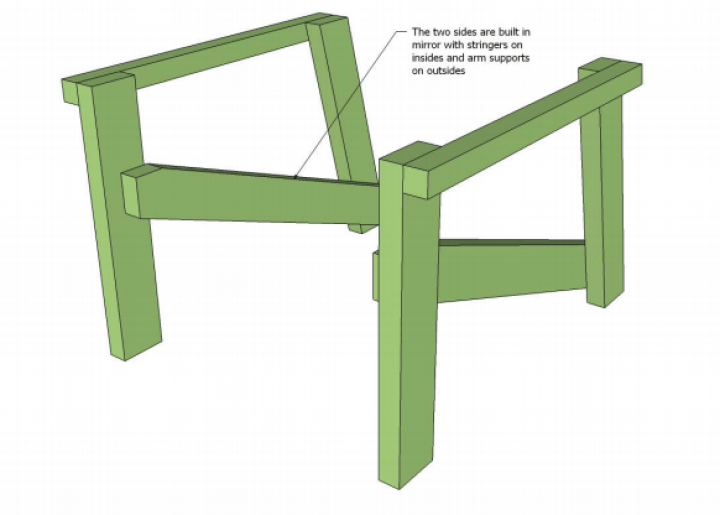 Adirondack chair plans for legs