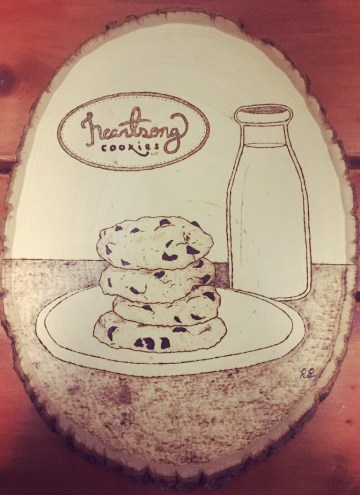 picture of woodburned Heartsong Cookies image