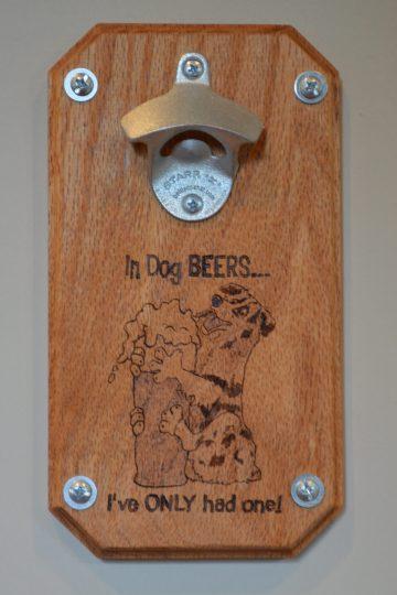 close-up of magnetic beer bottle opener