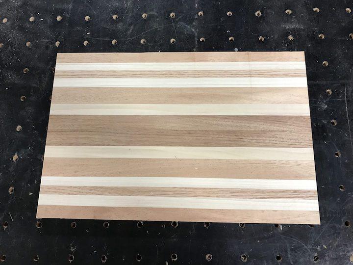 cutting board cut to rectangle