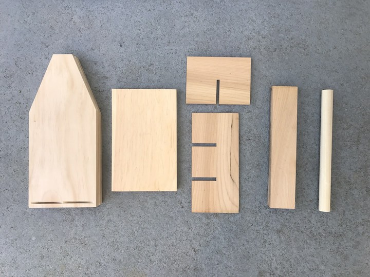 wood pieces to build beer caddy