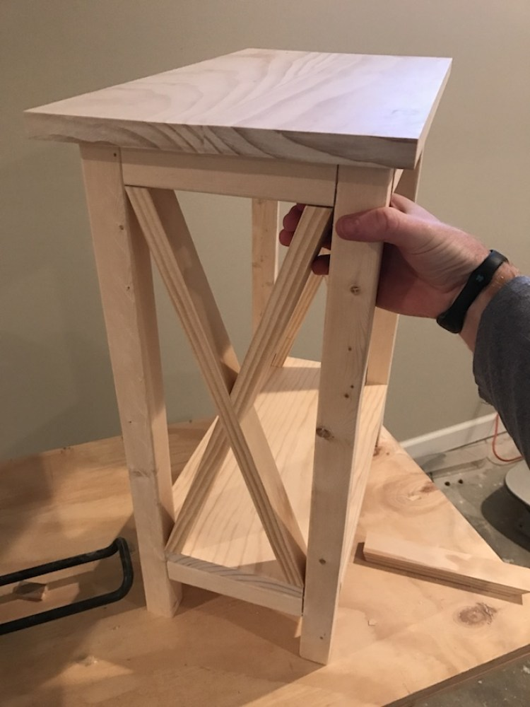 putting x together for x side table