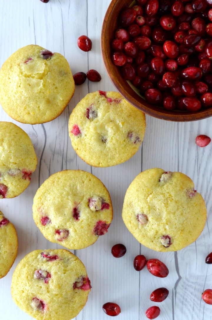 overlay of cranberry orange muffins recipes