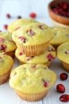 close-up of cranberry orange muffins recipes