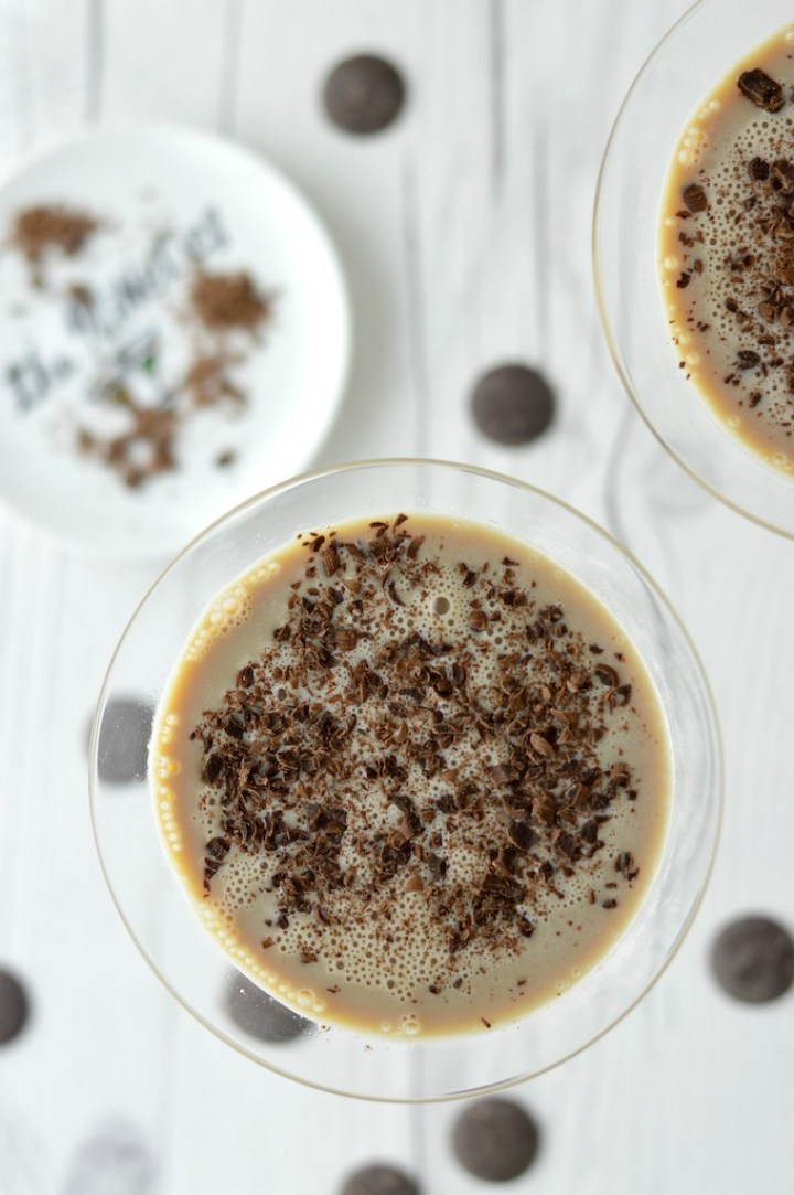 overhead shot of Baileys chocolate martini