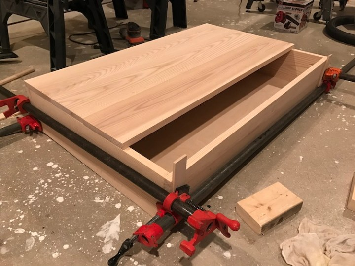 lining up top for coffee table