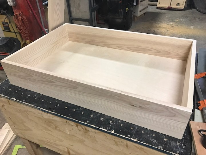 putting together base of coffee table