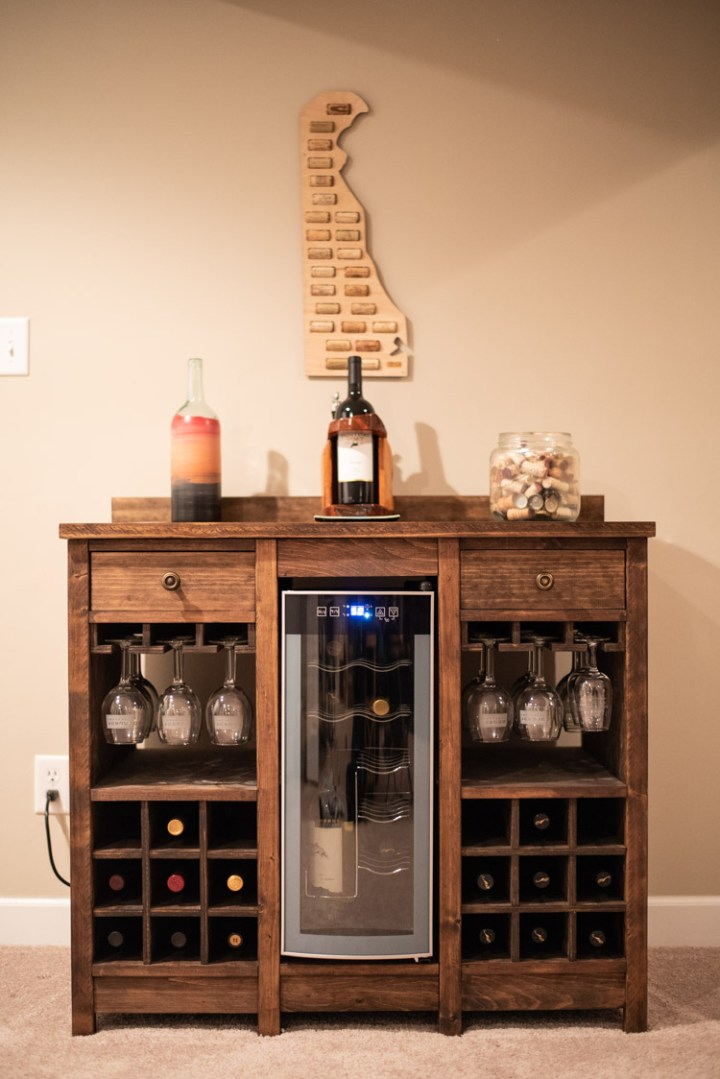front shot of wine cooler cabinet