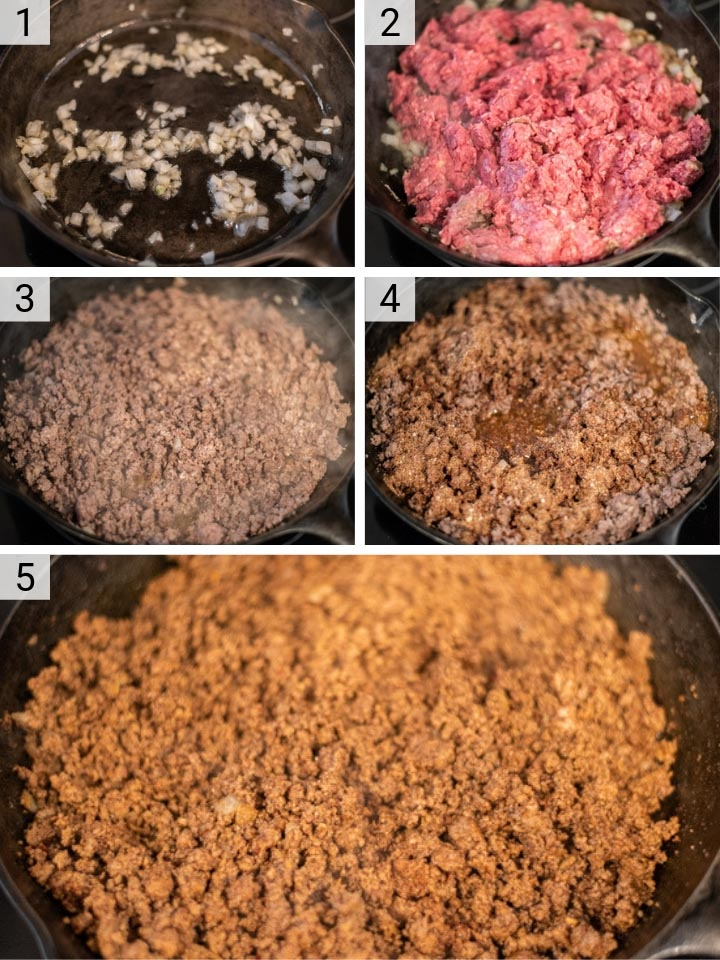 process shots of how to make homemade taco seasoning recipe