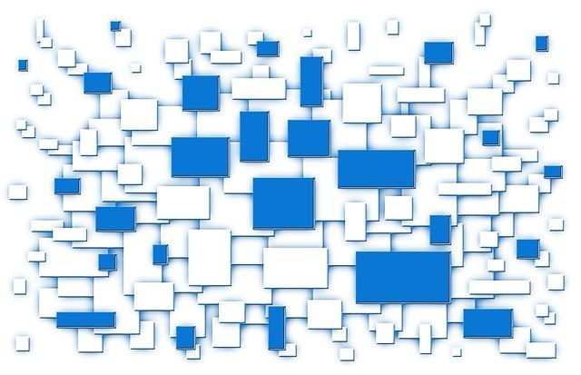 たくさんの白と青の四角