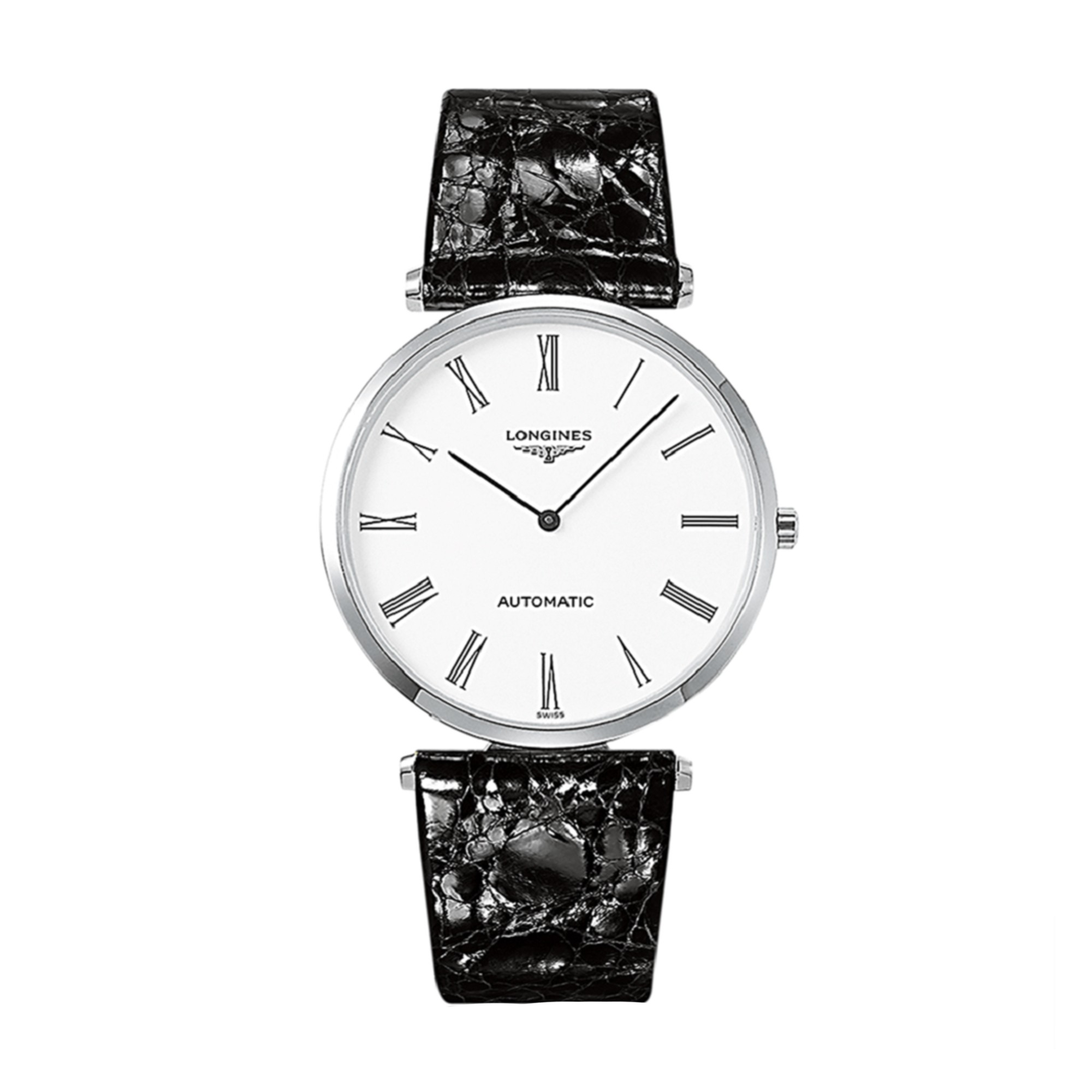 Longines La Grande Classique White Dial Black Leather
