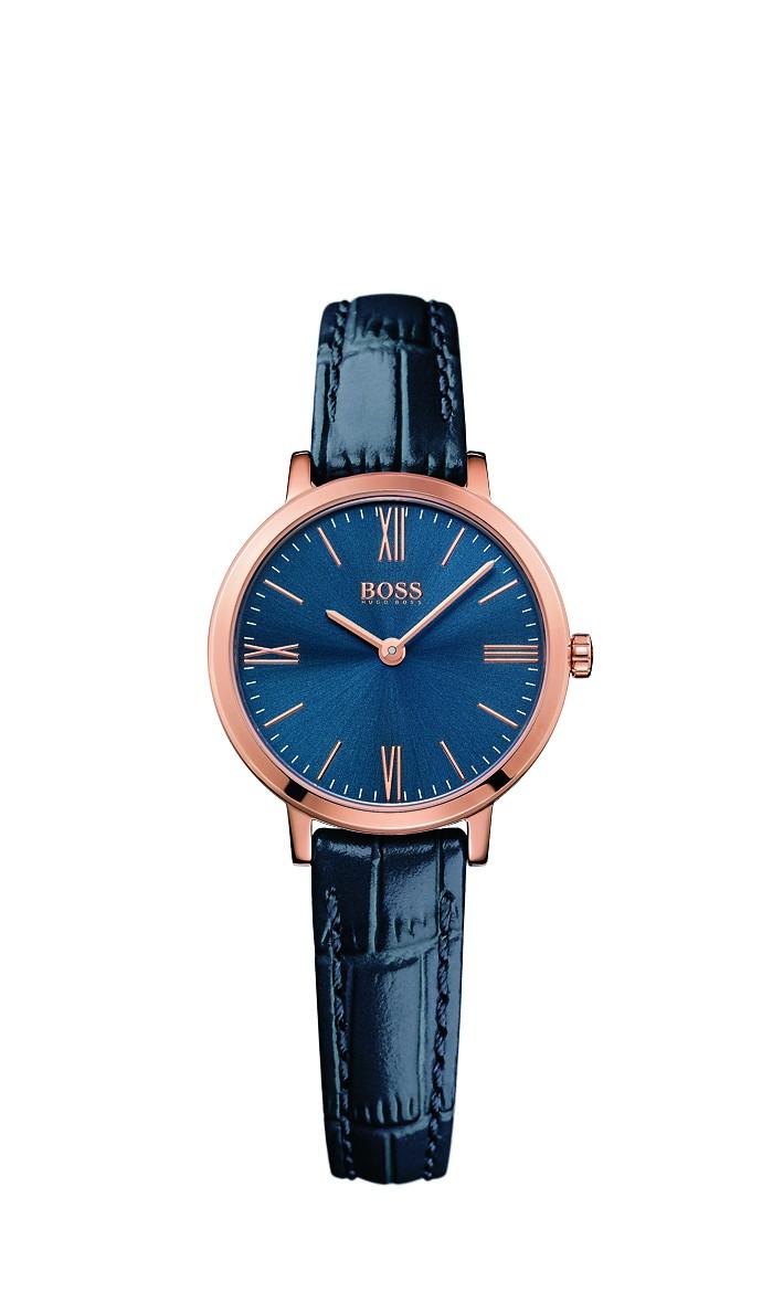 Hugo Boss Jillian Blue Leather Strap Watch
