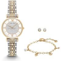 Emporio Armani Ladies Watch, Bracelet and Earring Gift Set