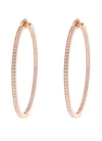 Bronzallure Rose Gold Plated CZ Hoop Earrings