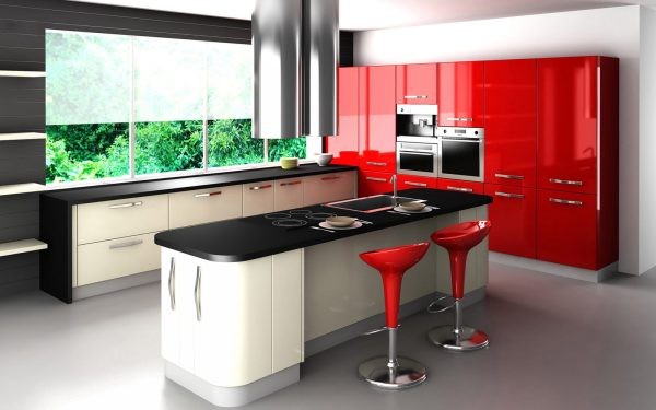 cocina moderna en tricolor