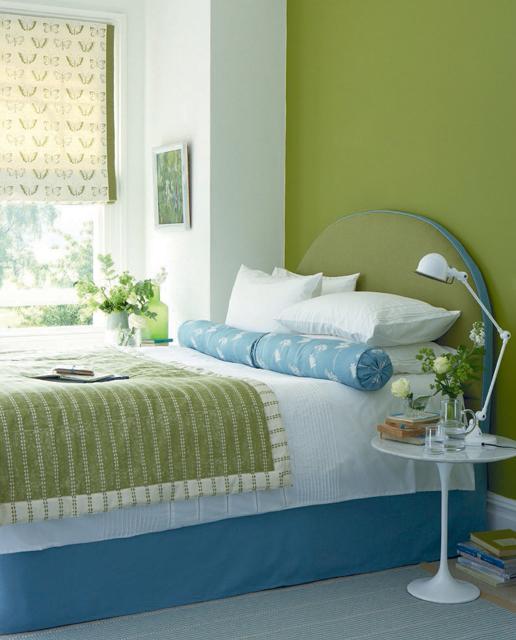 camera-da-letto-verde-mela-e-blu