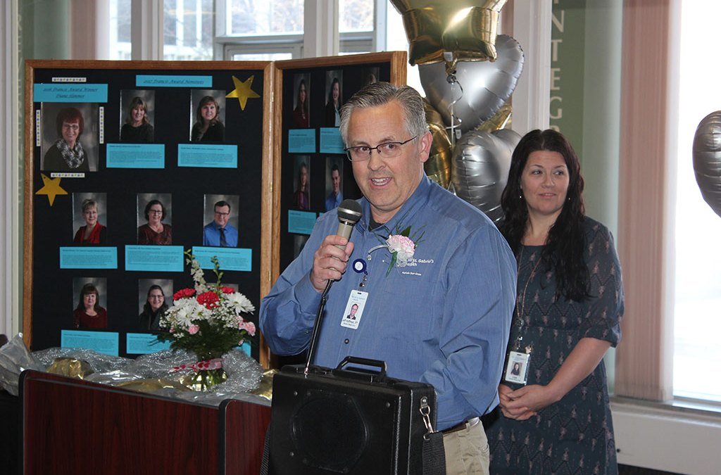 REHAB DIRECTOR RECEIVES FRANCIS AWARD AT CHI ST. GABRIEL'S HEALTH