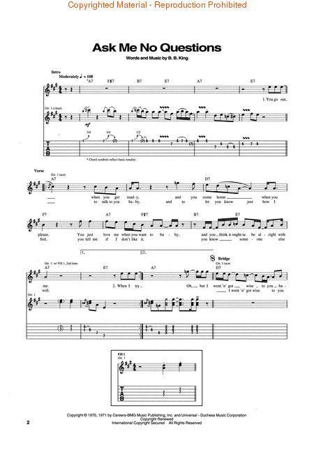 KING BB ANTHOLOGY Guitar Recorded Version TABLATURE SPARTITI CHITARRA LIBRO BLUES  TABLATURE