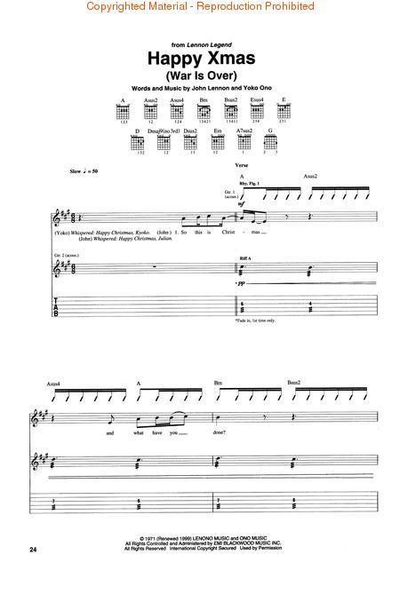 LENNON JOHN COLLECTION GUITAR Recorded Version LIBRO TABLATURE CHITARRA IMAGINEWOMAN