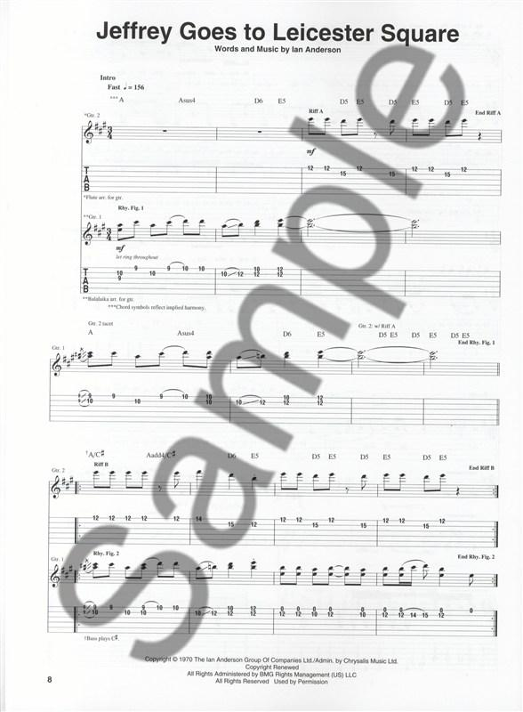 JETHRO TULL STAND UP-GUITAR RECORDED VERSION TABLATURE
