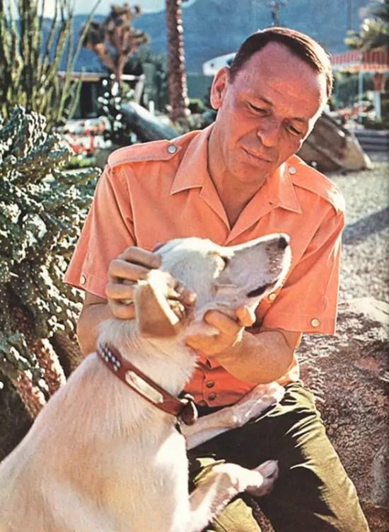 Frank Sinatra with his dog Ringo
